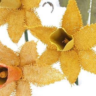 Powertex daffodil flowers by Abigail Lagden