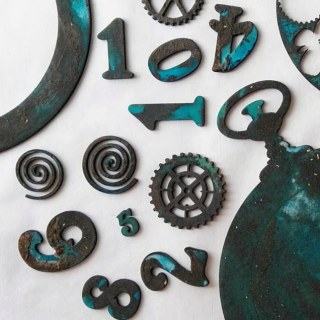 Pocket watch pieces with Rust