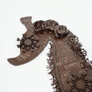 Powertex seahorse coated in Bronze