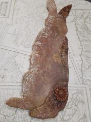 Powertex stone art hare step by step