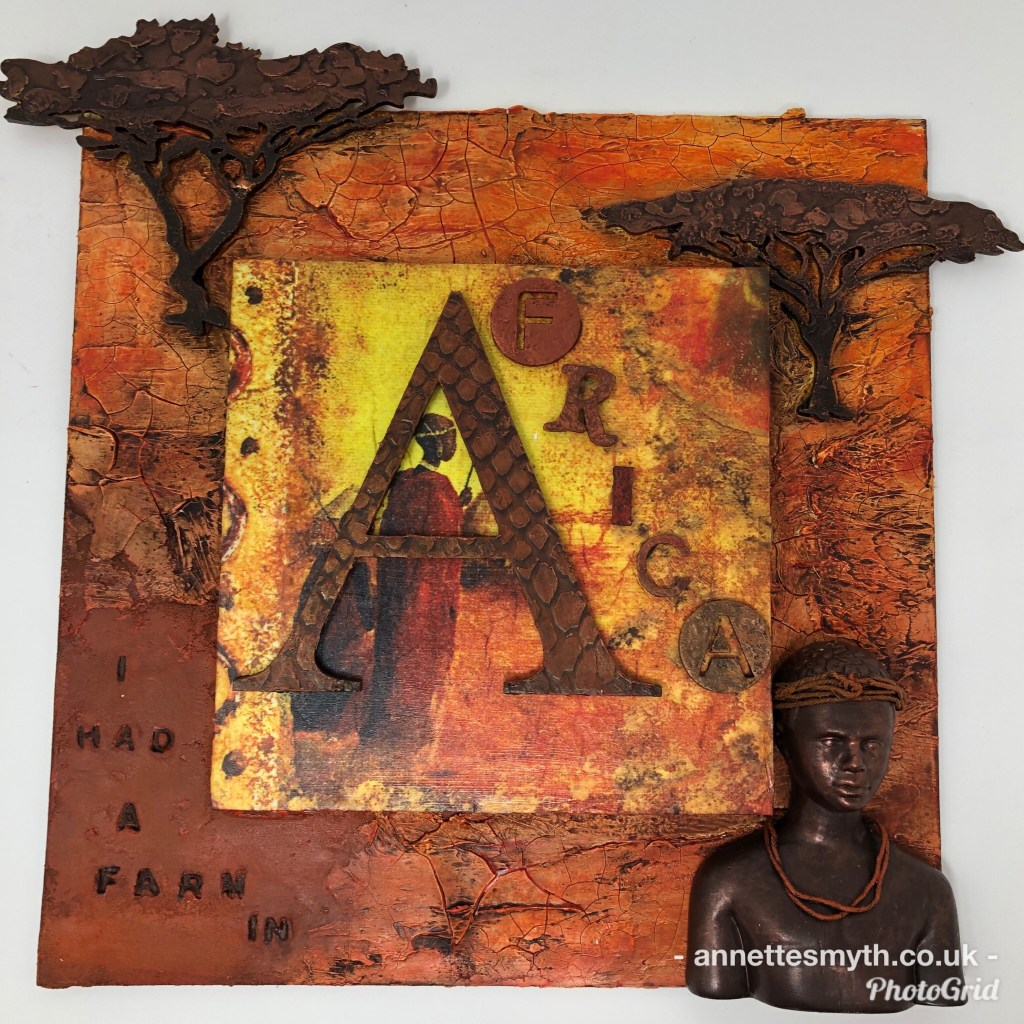 Africa themed mdf frame by Annette Smyth