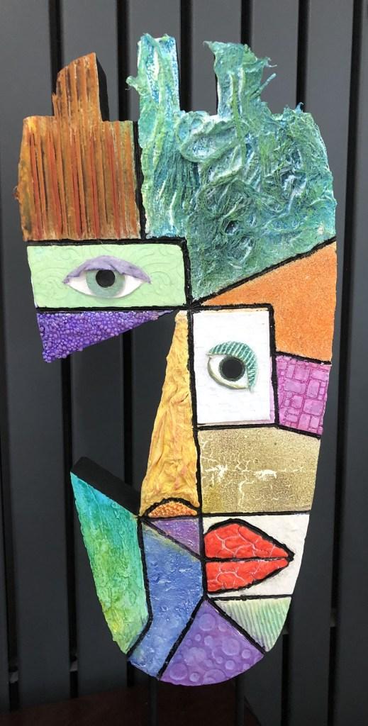 Powertex craft foam Picasso art by Annette Smyth