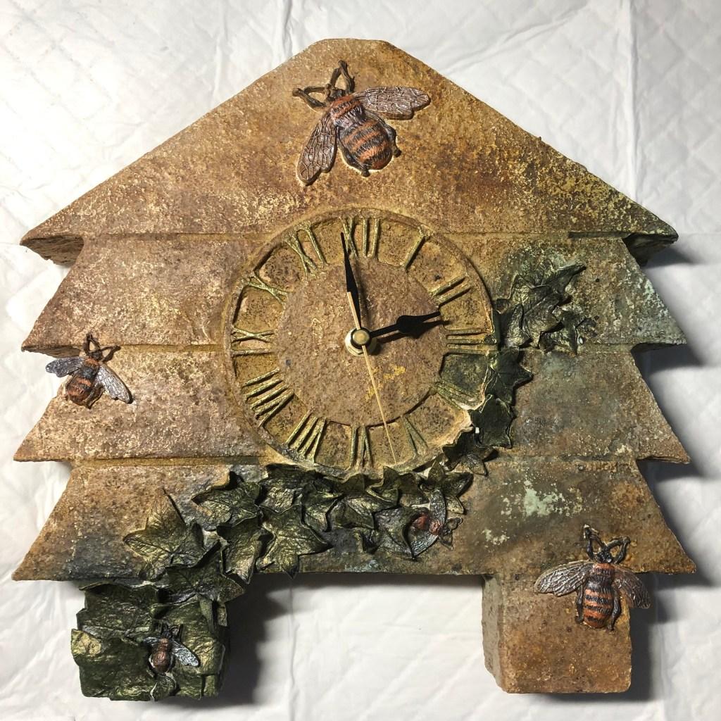 Powertex craft foam clock by Annette Smyth
