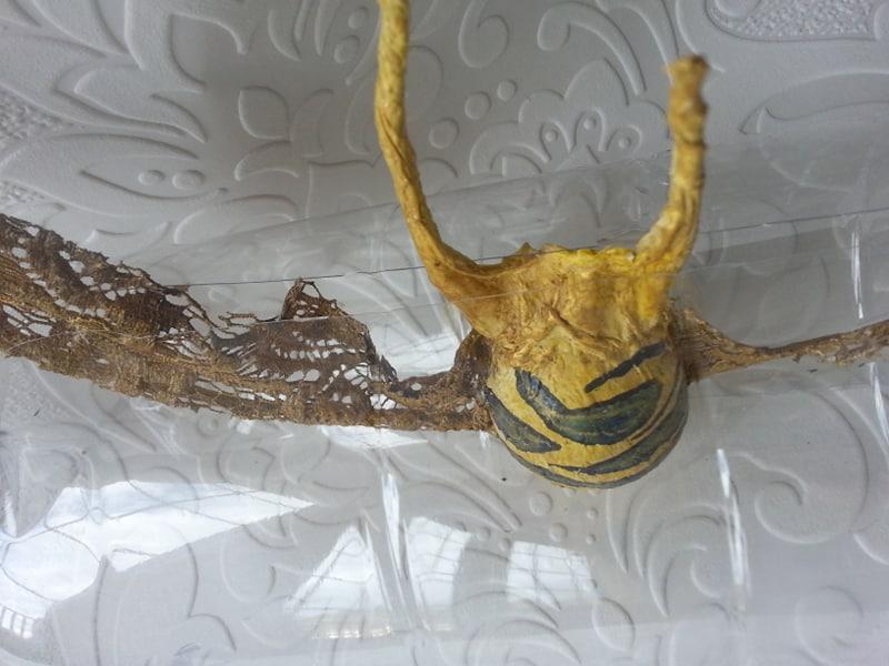 Powertex fish sculpture