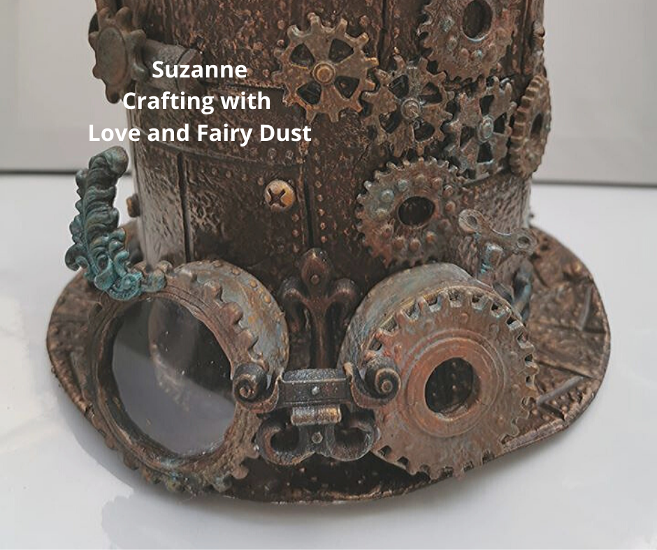 Powertex steampunk hat by Suzanne Tarburton from Crafting with Love and Fairy Dust