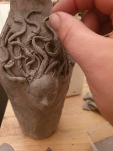 Snake hair Medusa
