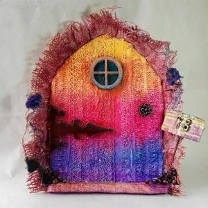Fairy door by Kore Sage with Powertex acrylic inks