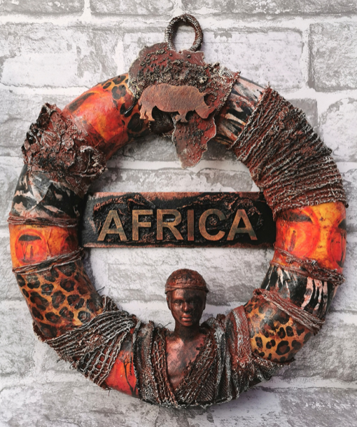 Powertex African Adventure Wreath by Gill Goldsmith