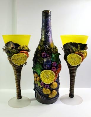 recycled bottle powertex art