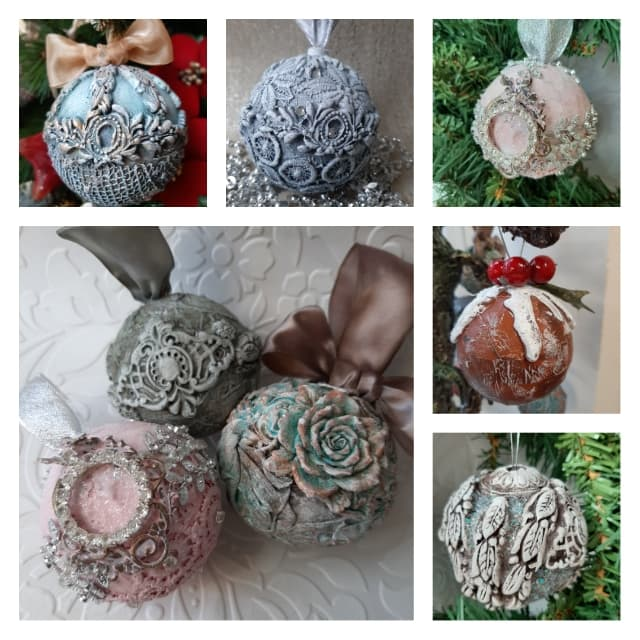 The most wonderful time of the year! Powertex decorations by Jinny Holt