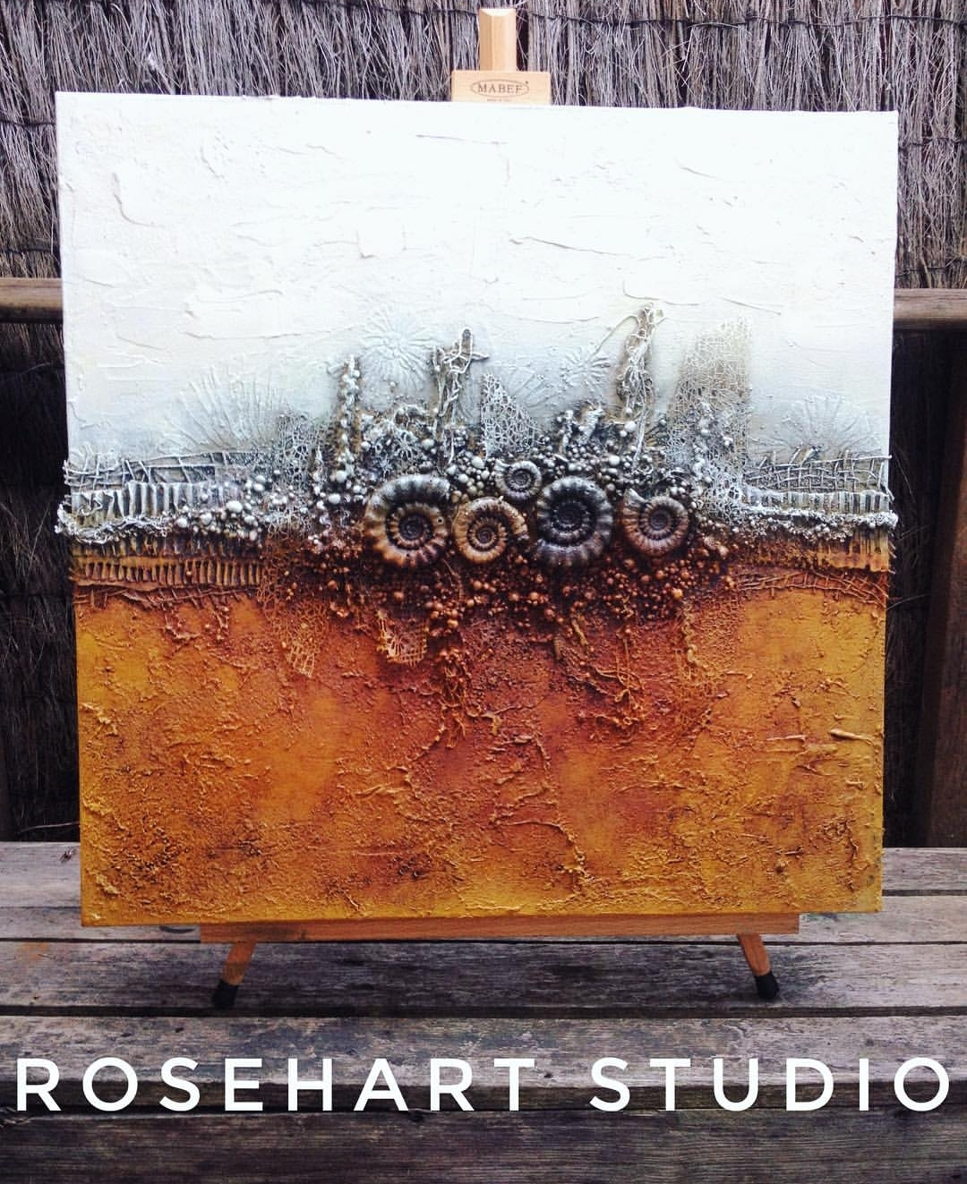 Fossil Mixed Media canvas art by Anna Emelia Howlett