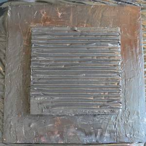 Layer of corrugated card for texture
