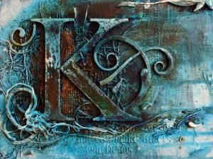 Powertex Rusty Letter wall art