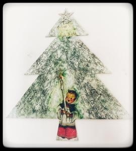 Nostalgic Powertex Christmas tree by Donna Mcghie tells A Winter's Tale