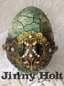 Luxury egg by Jinny Holt with Powertex Easy 3D Flex