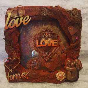 Gill goldsmith Love frame Powertex Secret Art Box