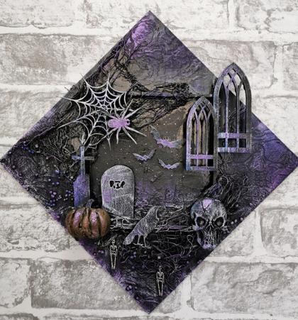Powertex Spooktacular Halloween wall art by Gill Goldsmith