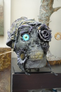 Powertex skull by Tracey Evans