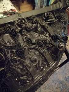 Using Black Powertex with plaster and resin pieces