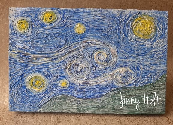 Starry, starry night by Jinny Holt, Powertex  art