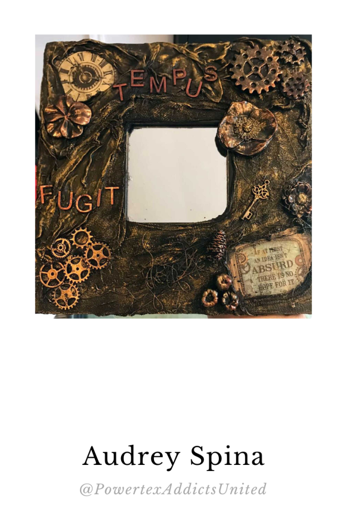 Powertex mixed media mirror by Audrey Spina