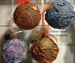 Karen Hewitt Christmas Baubles Powertex