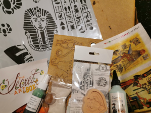 Powertex UK Secret Art Box December 2019 Egyptian