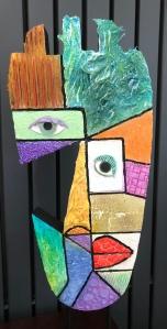 Powertex Picasso art by Annette Smyth