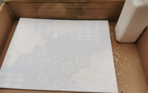 Use Easy Structure and stencils on a canvas for a textured background
