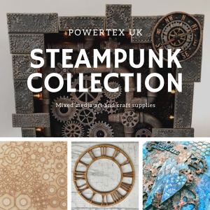 Powertex UK Mixed Media art and craft supplies steampunk collection