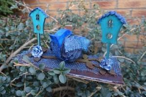 Blue bird Mixed Media by Sam Butler