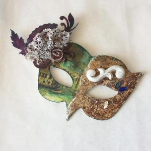 Venetian Mask from Secret Art Box Powertex by Kore Sage