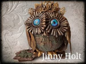 Powertex owl by Jinny