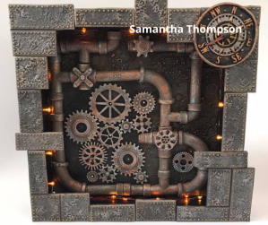Steampunk Powertex art by Samantha Thompson