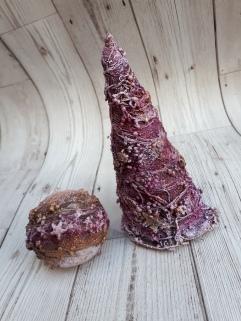 Powertex mixed media Christmas tree and bauble