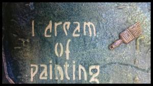 Van Gogh quote with Powertex art