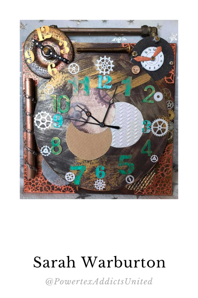 Sarah Warburton Powertex clock
