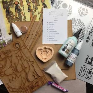 Powertex UK Secret Art Box Egyptian theme contents