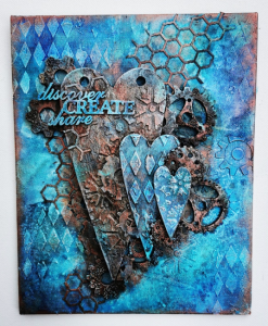 Powertex Steampunk art by Suzanne Tarburton using the Secret Art Box