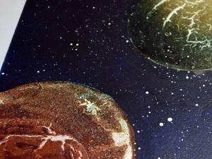 Use a wet paintbrush to spray on stars with Ivory Fabric Hardener