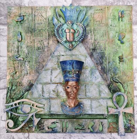 Powertex Art by Gill Goldsmith from the Egyptian Secret Art Box