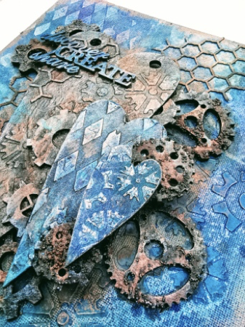 Layer your pieces into a mixed media style with Powertex