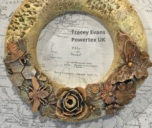 Tracey Powertex Evans Bee art for the Monthly Challenge