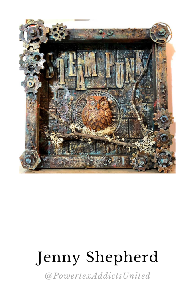 Powertex Steampunk art by Jenny Shepherd