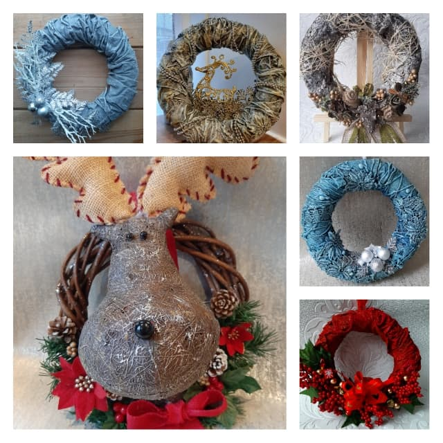 The most wonderful time of the year decorations by Jinny Holt using Powertex