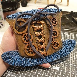 Powertex Steampunk corset by Sarah Jayne Ambrose
