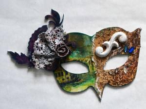 Venetian Mask wall art from Powertex Secret Art Box