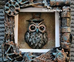 Powertex art by Gill Goldsmith, Steampunk canvas