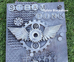 Steampunk Powertex art by Sylvia Blackshaw