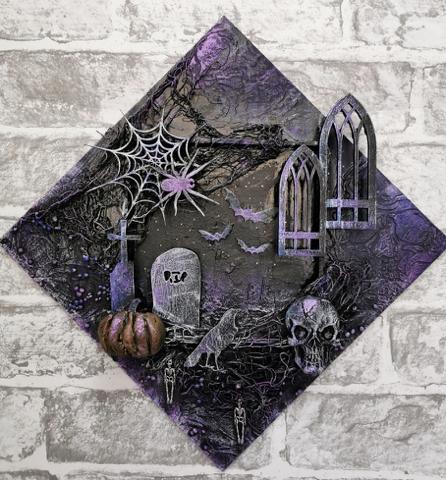 Powertex spooktacular halloween art by Gill Goldsmith